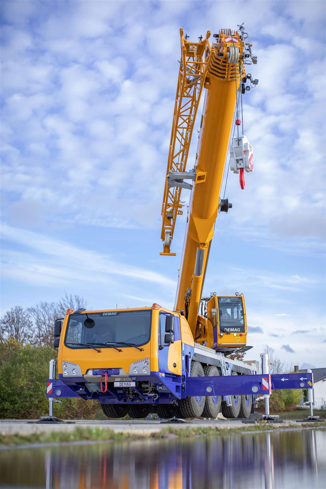 Demag claims the AC 80-4 as the most compact four axle all terrain crane on the market