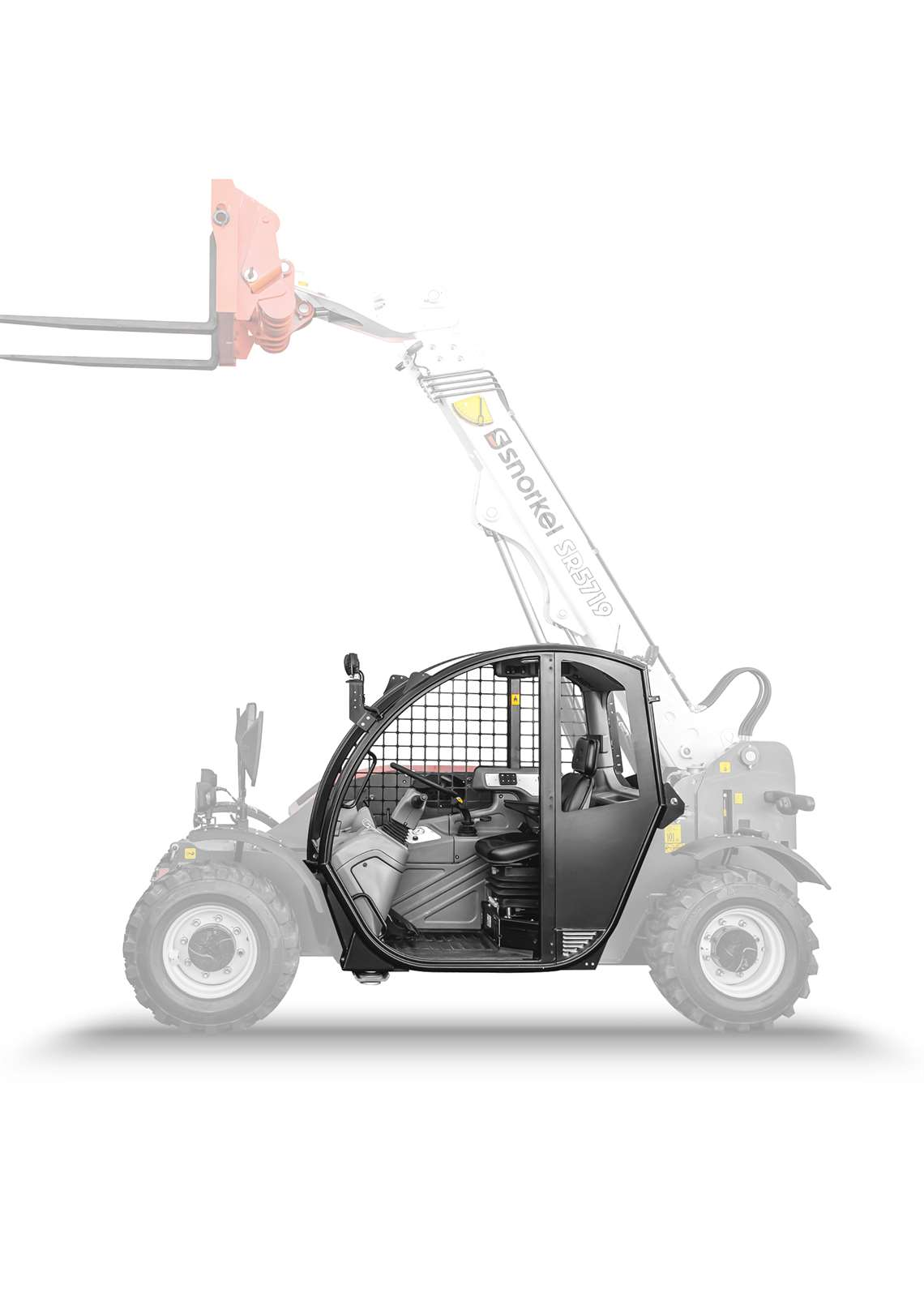 Snorkel's SR5719 telehandler equipped with an open cab