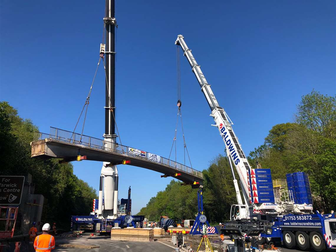 AR Demolition performs a technical bridge lift, April 2020