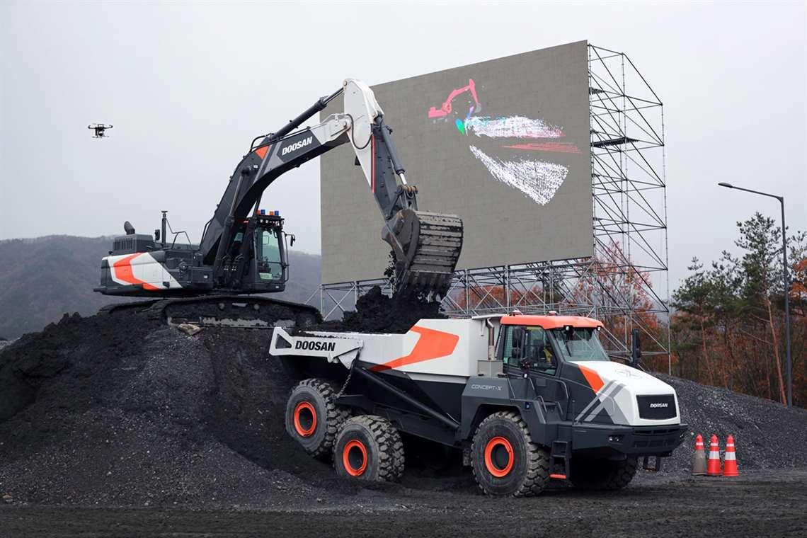 Construction machines from Doosan Infracore
