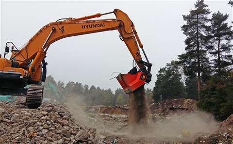 Allu DN 3-17 TS screening demolition waste