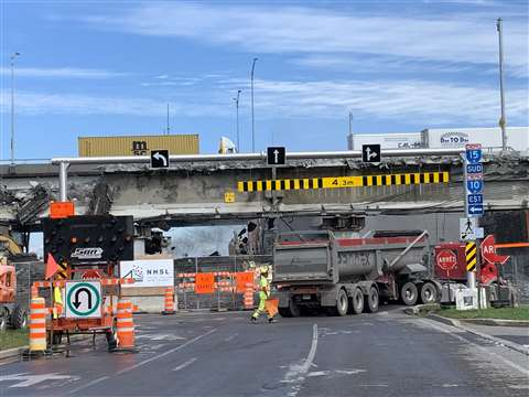The old Champlain Bridge Montreal, Canada