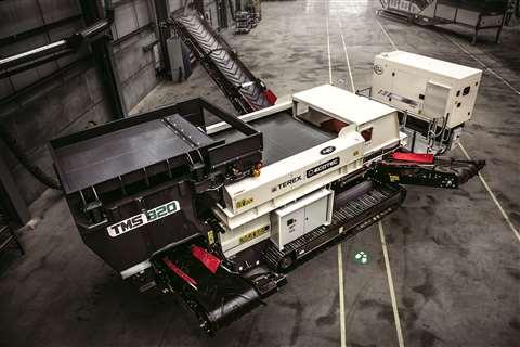 The Terex Ecotec TMS 320 Metal Separator