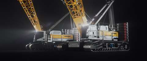 Two models of electric crawler crane have been launched, the 250 tonne capacity LR 1250.1 unplugged and the LR 1200.1 unplugged